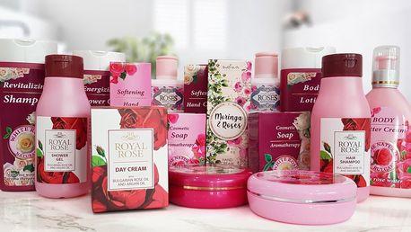 Růžová kosmetika pro ženy: balzám, mýdlo i krém
