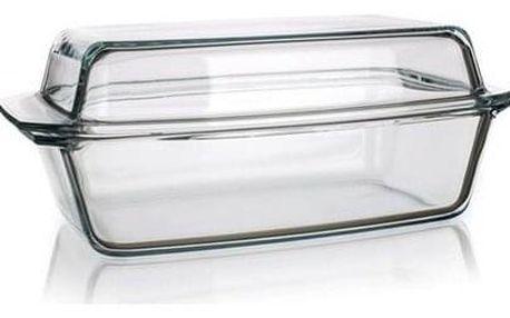 Simax Pekáč skleněný hranatý s víkem 5,4 l,
