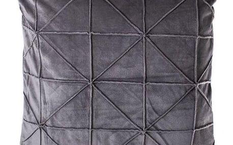 JAHU Povlak na polštář Amy, 45 x 45 cm, šedá