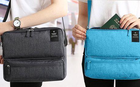 Praktická cestovní taška ve třech barvách