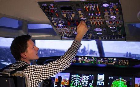 Letecký simulátor Boeing 737 MAX v Brně