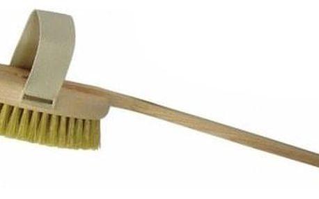 Modom Dřevěný kartáč na mytí zad s odnímatelnou rukojetí, 45 cm KP111