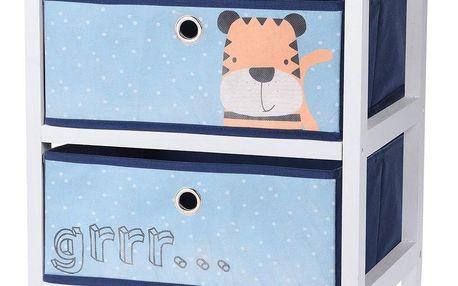 Komoda se zásuvkami Hatu, modrá, 41 x 33,5 x 43 cm