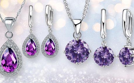 Elegantní náušnice a náhrdelníky se zirkony