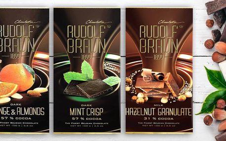 Belgické čokolády: mléčná, hořká i s chilli