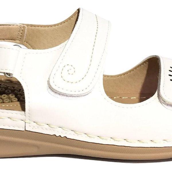 Pohodlné dámské sandále Koka typ 3   Velikost: 38   Krémová2