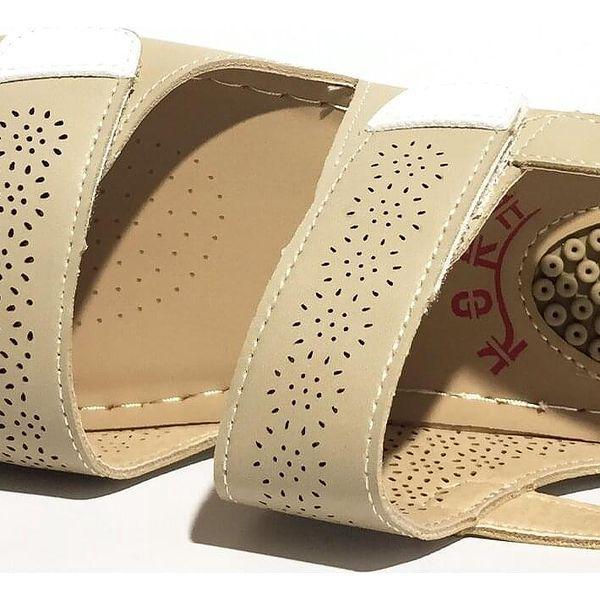 Pohodlné dámské sandále Koka typ 3   Velikost: 38   Krémová5
