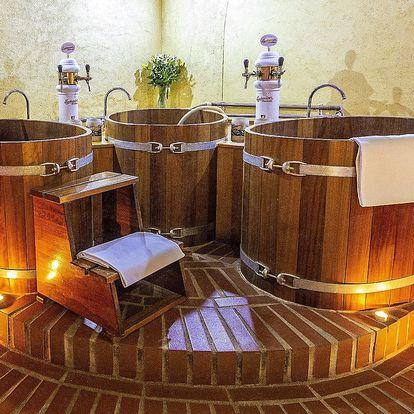 Privátní pivní lázeň, sauna a pivo neomezeně pro dva