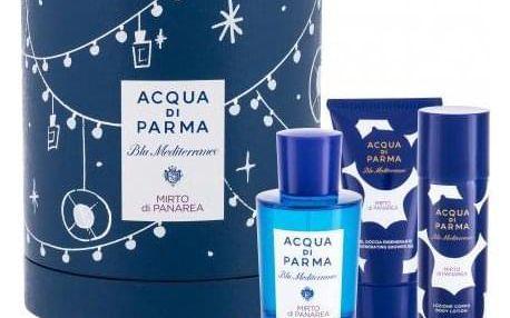 Acqua di Parma Blu Mediterraneo Mirto di Panarea dárková kazeta unisex toaletní voda 75 ml + sprchový gel 40 ml + tělové mléko 50 ml