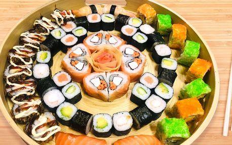 24–42 ks sushi: vege, s lososem i krevetami