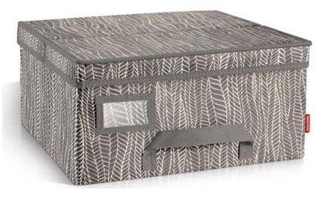 Krabice na oděvy FANCY HOME 40 x 35 x 20 cm, cappuccino