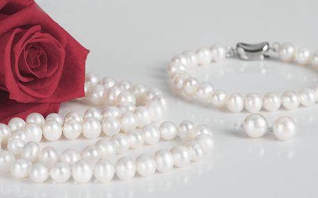 Náhrdelníky, náramky a náušnice z přírodních perel