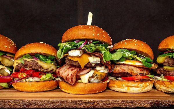 Burger s hranolky, dipem a nápojem pro 1 i 2 osoby