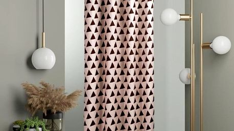 DecoKing Závěs Hypnosis Triangles,140 x 245 cm