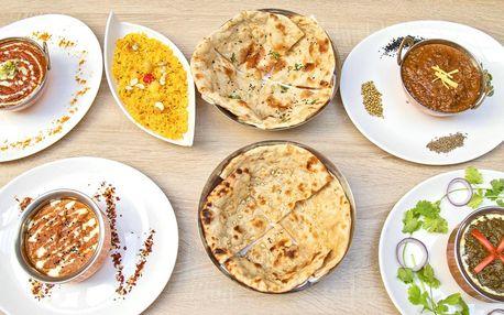 Otevřené vouchery na celé menu v indické restauraci