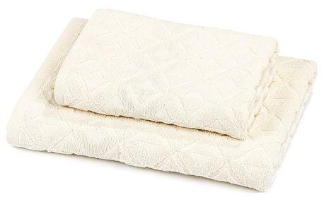 Trade Concept Sada Rio ručník a osuška krémová, 50 x 100 cm, 70 x 140 cm
