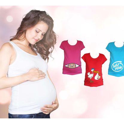 Vtipné těhotenské triko v mnoha velikostech i barvách s možností osobního odběru