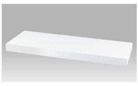 Nástěnná polička 60 cm, barva bílá. Baleno v ochranné fólii. P-001 WT2