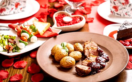 Valentýnské menu i s lahví sektu pro 2 osoby
