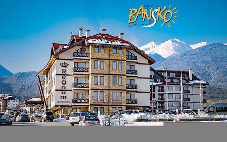 5–8denní Bansko ski | Regnum Bansko Ski Hotel & SPA***** | Polopenze | Wellness v ceně | Vlastní doprava