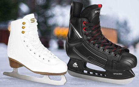 Hokejové a krasobruslařské brusle, vel. 39–45