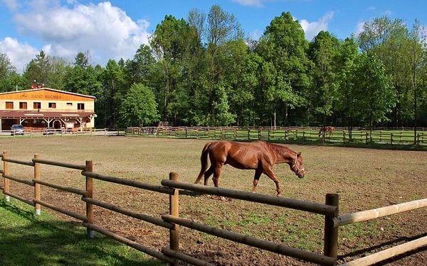 Chatky na ranči v Beskydech s polopenzí a wellness