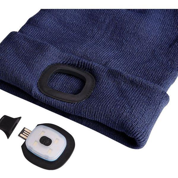 Sixtol Čepice s čelovkou 45 lm, USB, uni, modrá3
