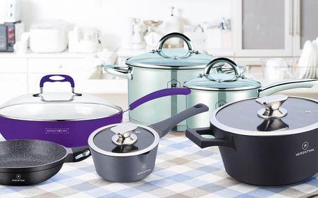 Kuchyňské nádobí: hrnce i wok či grilovací pánve
