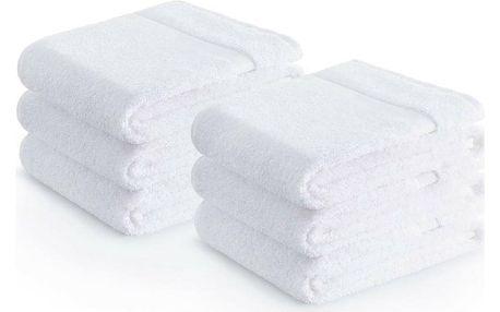 Zender Bavlněný ručník Pois bílá, 30 x 50 cm, sada 6 ks