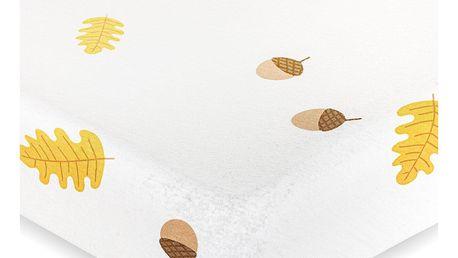4Home jersey prostěradlo Podzim, bílá, 160 x 200 cm