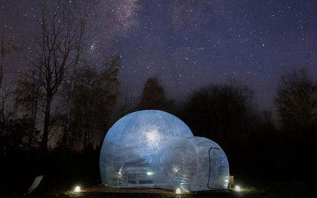 Romantické ubytování v bubble hotelu Skyhome