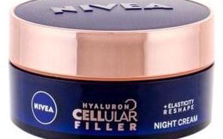 Nivea Hyaluron CELLular Filler Reshape 50 ml remodelační noční krém pro ženy