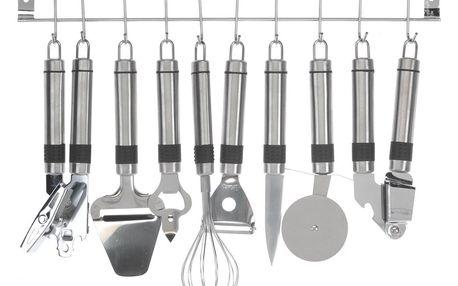 9dílná sada kuchyňského náčiní, nerez