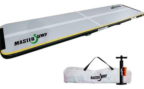 Airtrack MASTERJUMP S-Pro nafukovací žíněnka 400 x 100 x 10 cm - šedá - černá