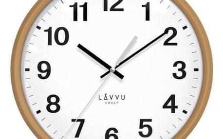LAVVU ESSENTIAL WOOD LCS4040 nástěnné hodiny