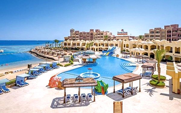 Hotel Sunny Days Resort Spa & Aquapark, Hurghada, letecky, all inclusive
