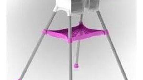 DOLONI Dětská jídelní židlička bílo-fialová