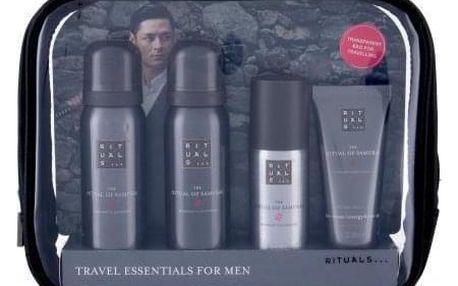 Rituals The Ritual Of Samurai Travel Set dárková kazeta pro muže sprchová pěna 50 ml + pěna na holení 50 ml + antiperspirant 50 ml + krém na obličej 30 ml + kosmetická taška
