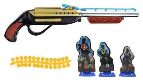Dětská kuličková pistole žlutá