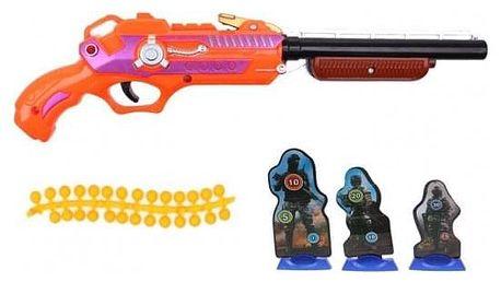 Dětská kuličková pistole oranžová