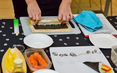 Kurz přípravy sushi: 3,5 hod. teorie i praxe