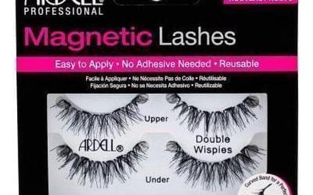 Ardell Magnetic Double Wispies 1 ks magnetické řasy pro ženy Black