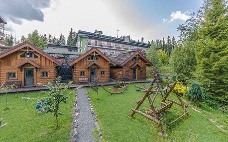 Vysoké Tatry ve stylovém srubovém domečku u Hotelu Nezábudka *** s polopenzí a wellness + sportovní aktivity