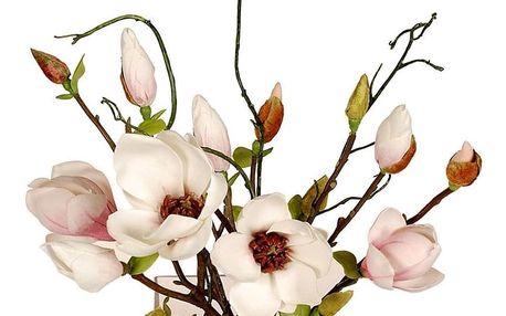 Umělá Magnolie ve skleněné váze, 33 cm
