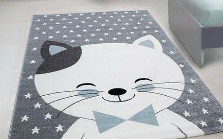 Vopi Kusový dětský koberec Kids 550 blue, 80 x 150 cm
