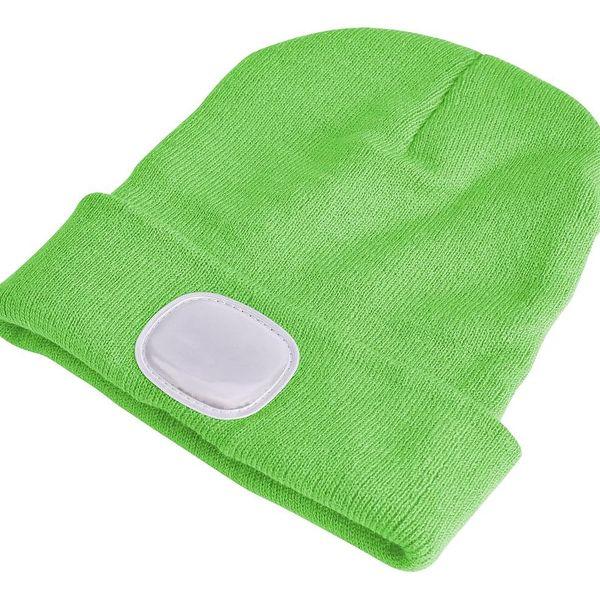 Sixtol Čepice s čelovkou 45 lm, USB, uni, zelená2