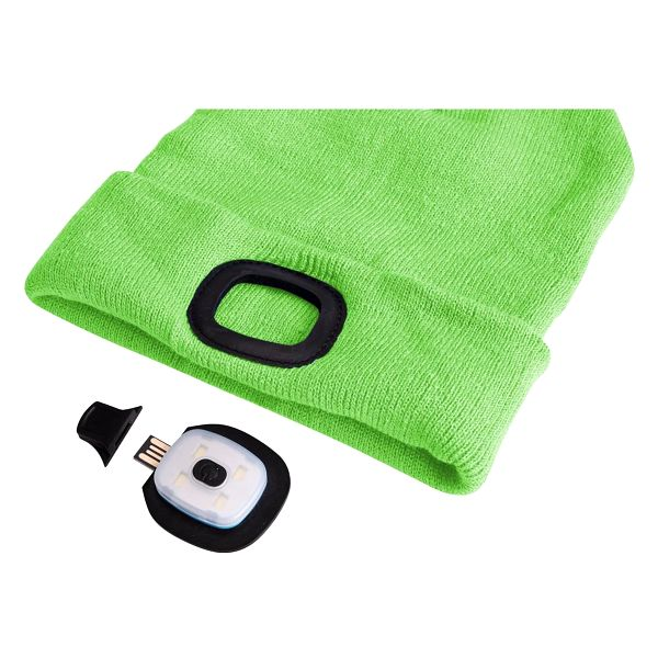 Sixtol Čepice s čelovkou 45 lm, USB, uni, zelená3