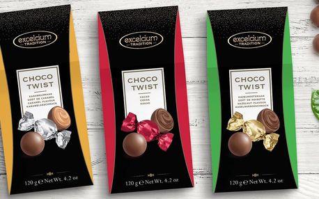Belgické čokoládové bonbóny s krémovou náplní