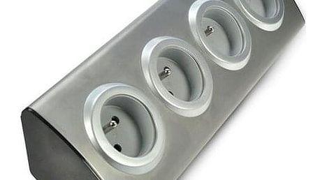 Solight Prodlužovací přívod rohový, šedá