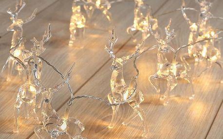DecoKing Vánoční světelný řetěz Sobi teplá bílá, 10 LED